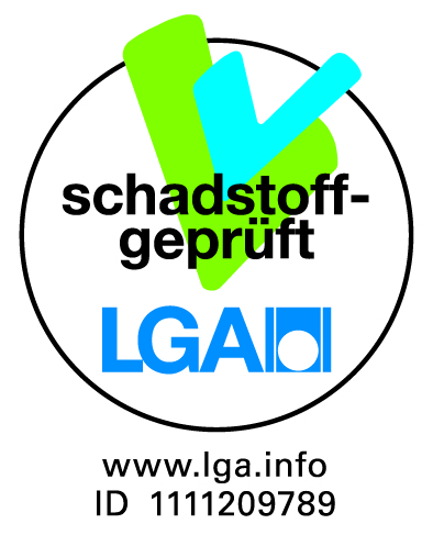 Qualitätszertifikat LGA schadstoffgeprüft Absorber