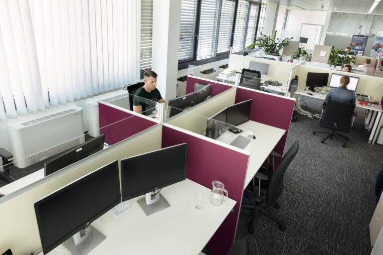 Kundenbeispiel A1 Telekom Austria mit Schallabsorber für das Büro