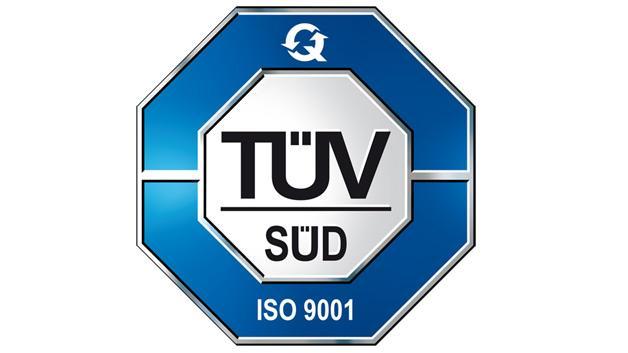 Qualitätszertifikat ISO 9001 Norm Absorber