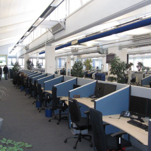 Kundenlösung ERGO Nürnberg Schallabsorber Büro