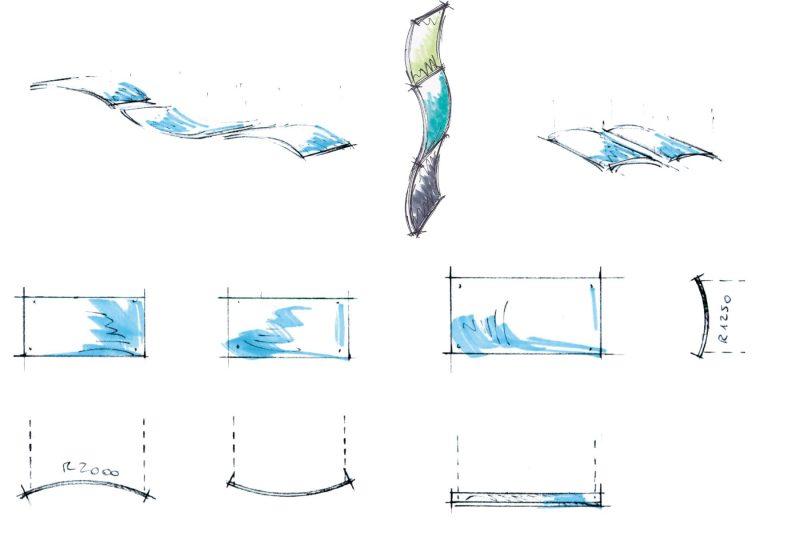 Acoustics in Motion Zeichnungen für moderne Bürokonzepte
