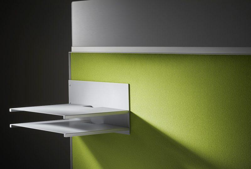 Decato Modul System Schreibtisch Trennwand - Sichtblende mit Ablage