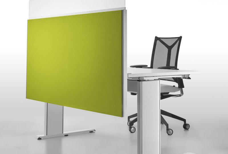 Decato Modul System Schreibtisch Trennwand mit Sichtblende für individuellen Schallschutz am Schreibtisch