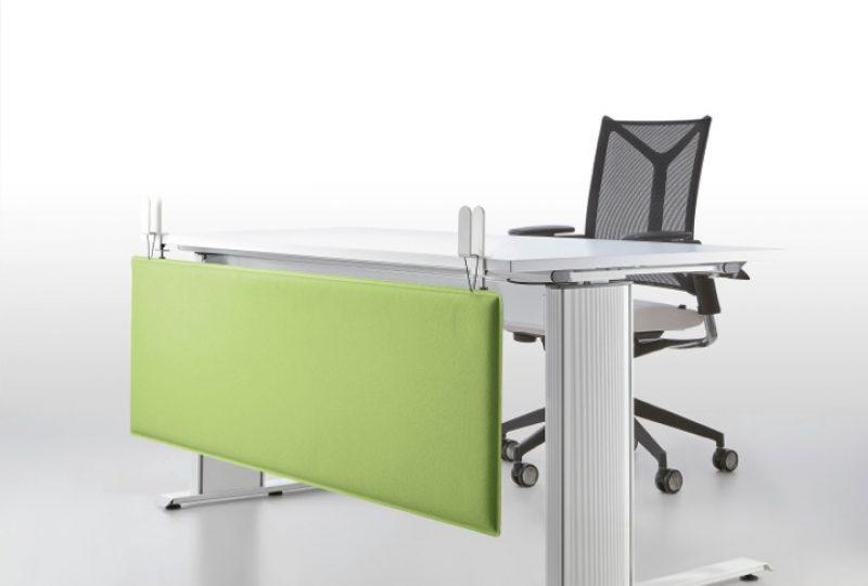 Sichtschutz Büro: Decampo Knieblende für Schallschutz am Schreibtisch