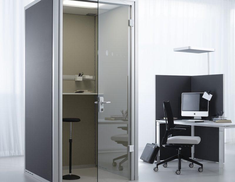 Raum in Raum Telefonzelle für Büro