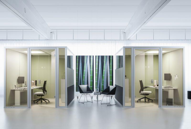 Konzentriert arbeiten in der Raum im Raum Kabine Decato dp50