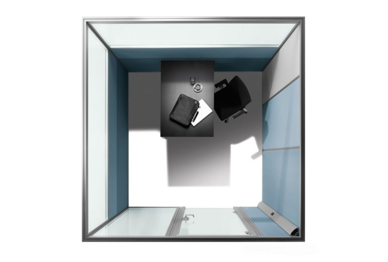 Vielfältige Gestaltungsmöglichkeitern bei der Decato dp50 Volume Raum im Raum als Think Tank Büro