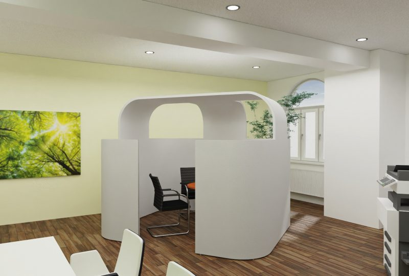 Planung Erdbeerkörbchen Raum in Raum Absorber