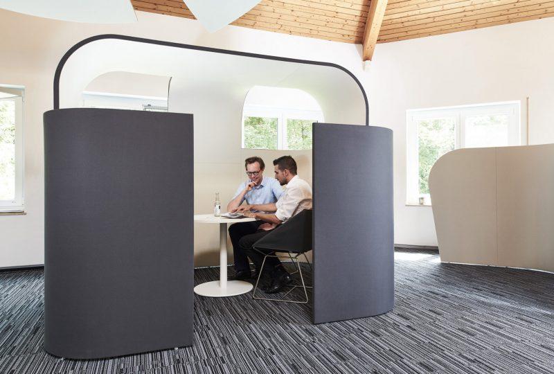 Erdbeerkörbchen Raum in Raum Absorber für Großraumbüros oder große Flächen