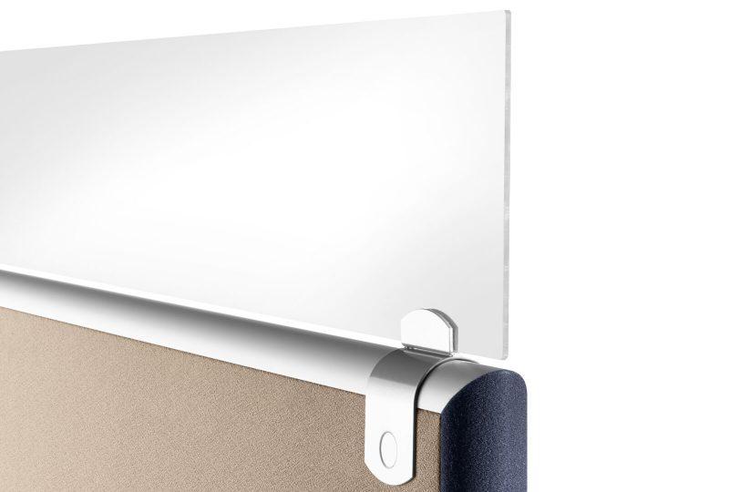 Sichtblende für die Formfac5 Stellwand mit Klettverbindung für das Büro