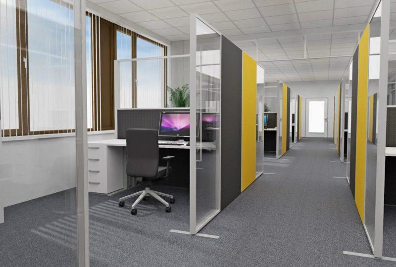 Planung Akustiklösung Neueinrichtung für Gruppenbüro und Teambüro
