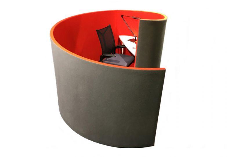 Decato Modul Nautilus als Schallschutz Schreibtisch und Raum in Raum