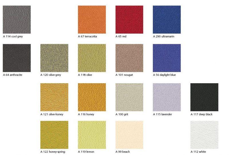 Individuelle Stoffe und Farben für moderne Bürokonzepte