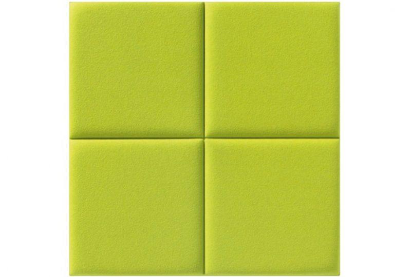 Decampo 4 Square als leichte Akustik Absorber für Wand
